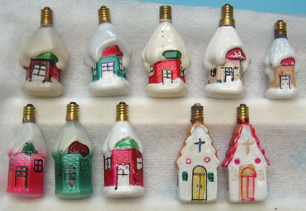 Antique Christmas Ornaments and Vintage Christmas Light Bulbs ...