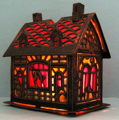 Antique Christmas Ornaments Paper nativity houses